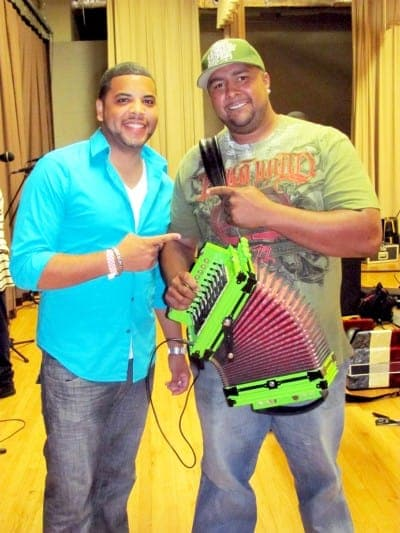 Dustin Cravins (left) with Keith Frank (Zydeco Musician from Louisiana).