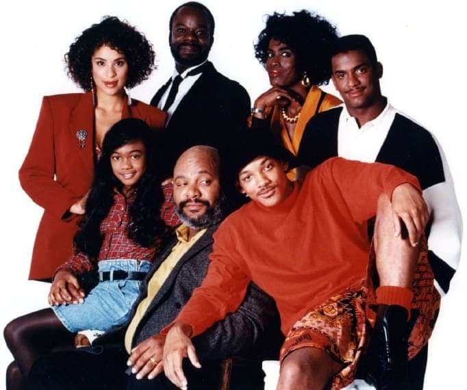 Cast of 'The Fresh Prince of Bel Air' 1990