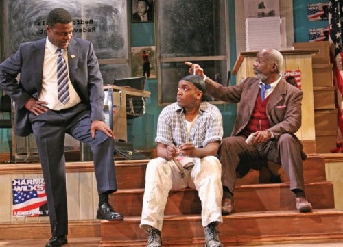 Joseph Marcell in 'Radio Golf' at the Tricycle Theatre, London