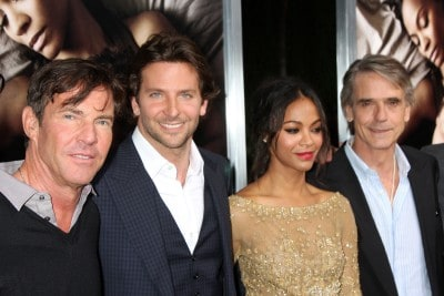 "Dennis Quaid, Bradley Cooper, Zoe Saldana, Jeremy Irons arrive at ""The Words"" Premiere at ArcLight Cinemas"