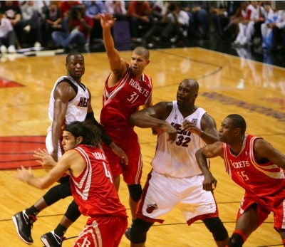 Shaquille O'Neal (32) during Miami Heat Vs. Houston Rocket