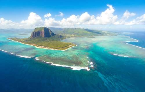Aerial View of Le Morne
