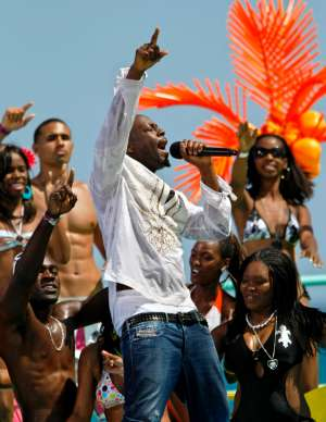 Wyclef performs during taping of Spring Bling, BET's annual spring break beach party, on  Riviera Beach Municipal Beach