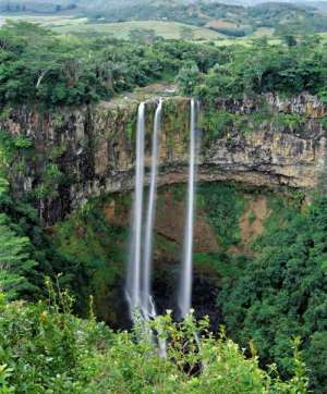 Famous Chamarel falls in Mauritius