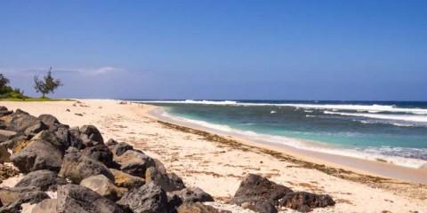Beach in Saint Gilles, La Reunion island, France