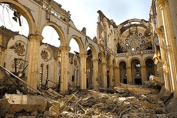 Notre Dame Cathedral destroyed