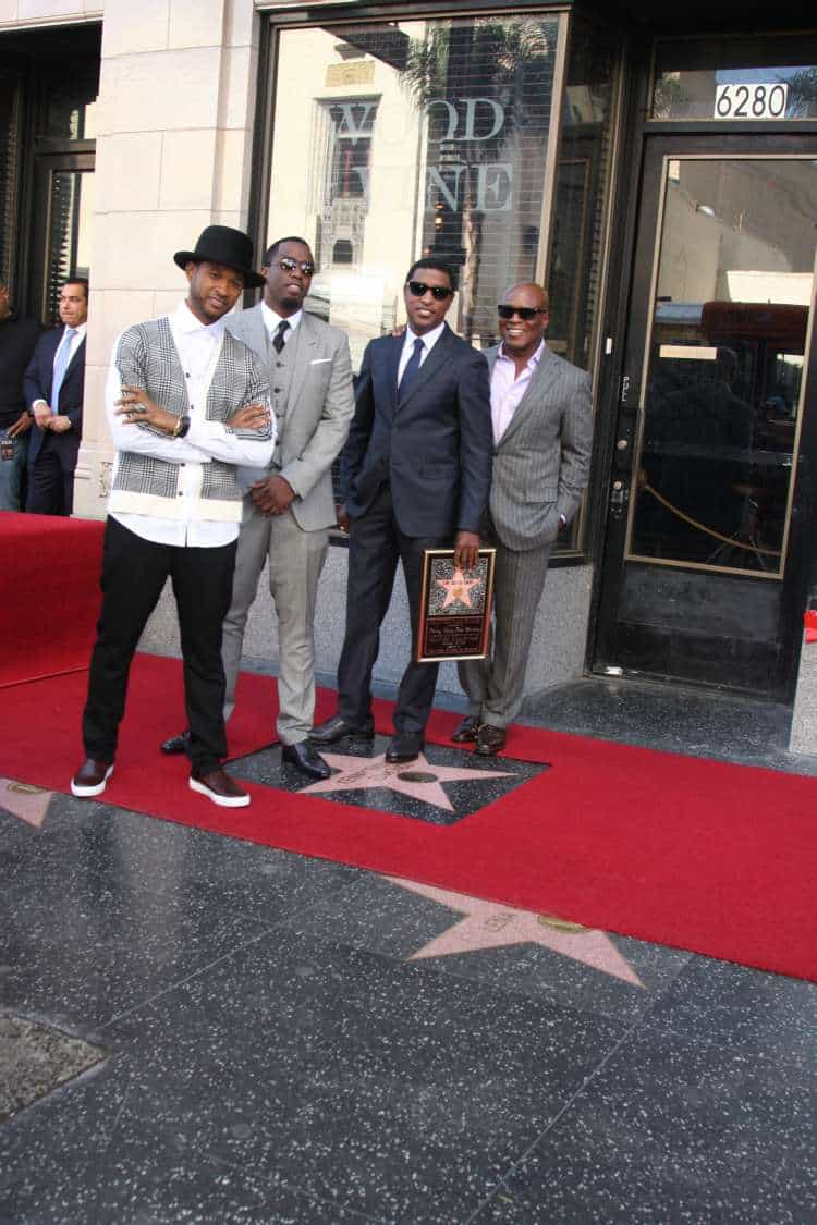 "Usher, Sean Combs ""P. Diddy"", Kenny Edmonds, Antonio ""LA"" Reid at the Kenny ""Babyface""Edmonds"