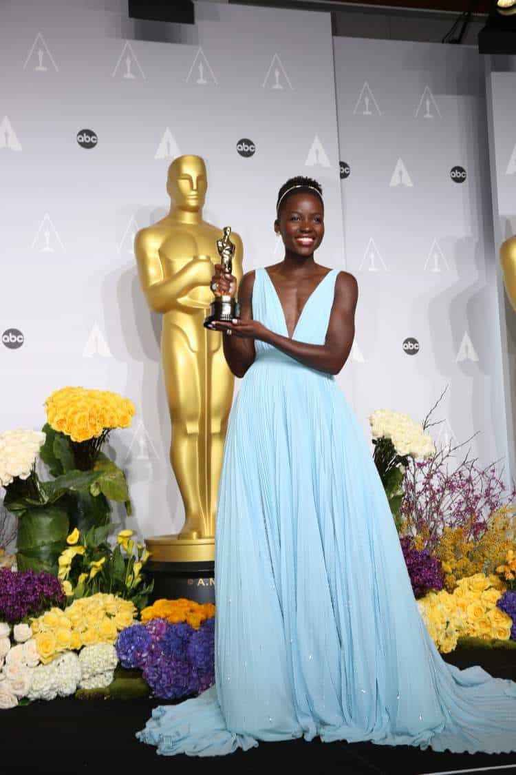 Lupita Nyong'o at the 86th Academy Awards at Dolby Theater, Hollywood & Highland, Los Angeles. Photo: Helga Esteb