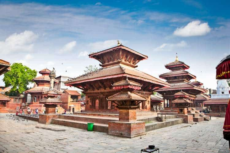 The famous Durbar Square in Kathmandu Valley, Nepal.