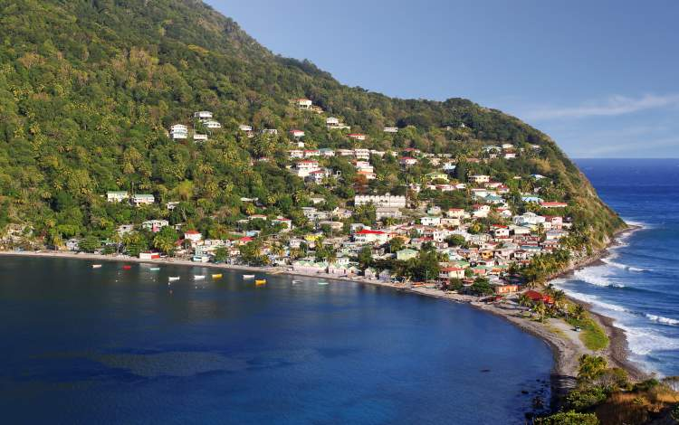 Fishing village in Soufriere Ba y, Dominica