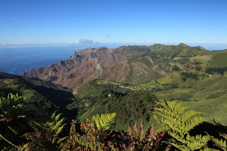 Sandy Bay district on St Helena