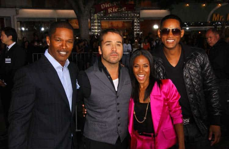 Jamie Foxx, Jeremy Piven, Jada Pinkett Smith and Will Smith at the World Premiere of 'The Kingdom', Mann Village Westwood, Westwood, CA. Photo: S Bukely