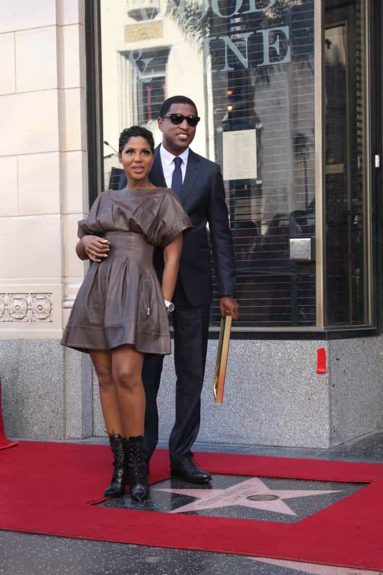"Toni Braxton and Kenny ""Ba byface"" Edmonds at the Kenny ""Ba byface"" Edmonds Hollywood Walk of Fame Star Ceremony. Photo: Helga Esteb."