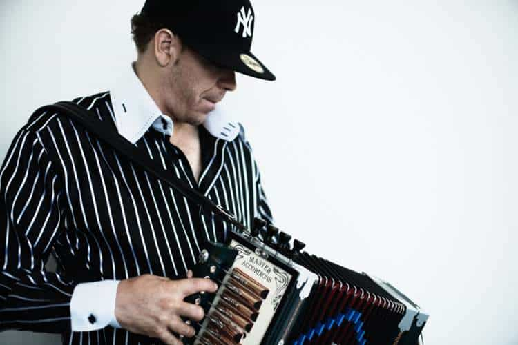 Andre Thierry playing a Cajun accordion. Photo: Matt Beardsley, Creative