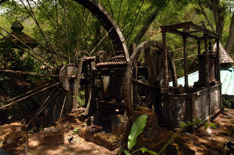 Old Water Wheel, Arnos Vale, Tobago
