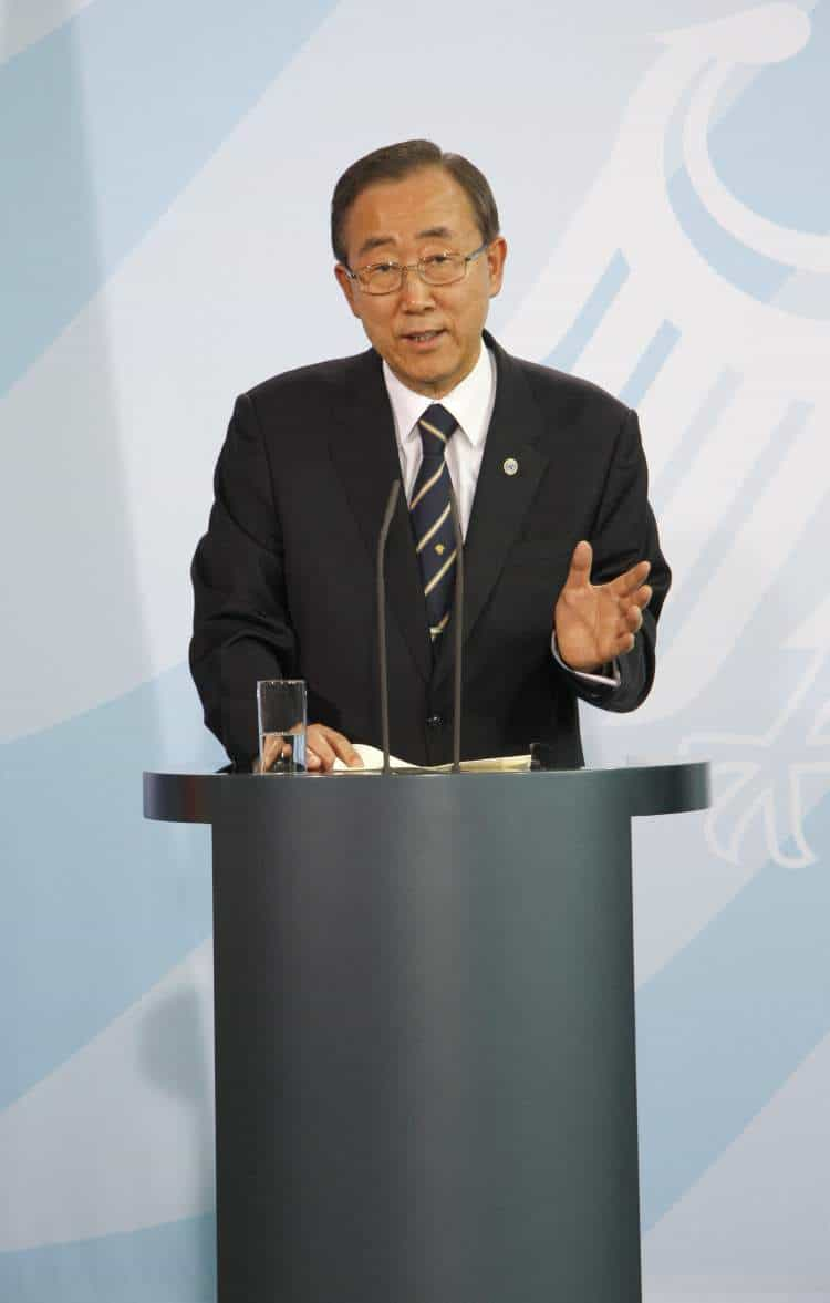 Secretary General of the United Nations, Ban Ki Moon. Photo: 360B