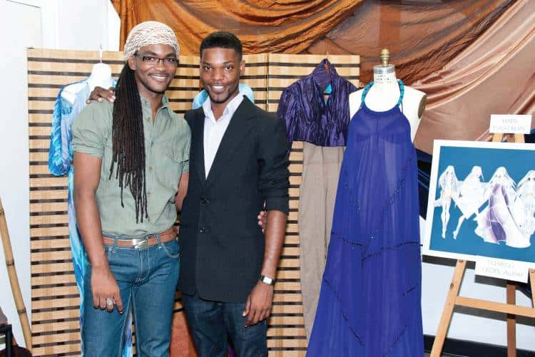 Adrian Foster (right)  with fashion collegue and graduate of CAFD, Mark Eastman