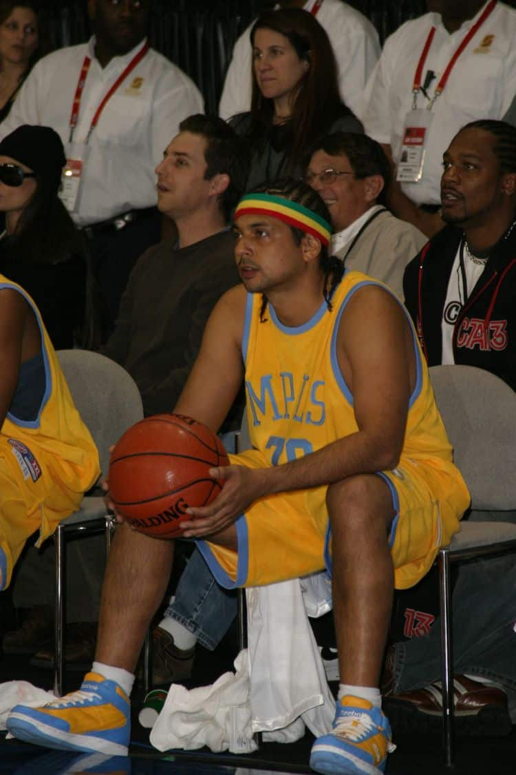 Sean Paul at the NBA All Star Celebrity Game at the Los Angeles Convention Center. Photo: Joe Seer