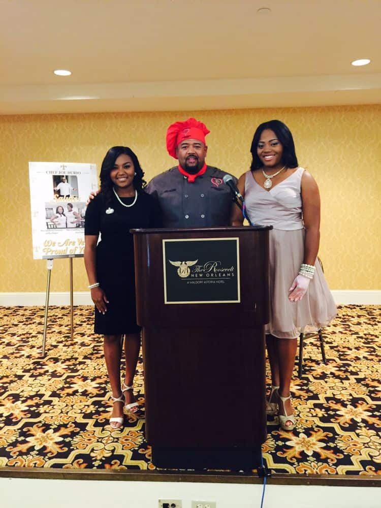 Chef Durio hosted a Red Carpet Event saluting 2015 Miss Southern University and 2015 Miss Grambling University at the Waldorf Astoria Hotel in New Orleans. First time both Queens of the 2 biggest rivalry universities in the South come from the same Town in La, same High School, same Church, but most important from the same Family!