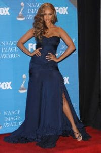 Tyra Banks at the 38th NAACP Image Awards