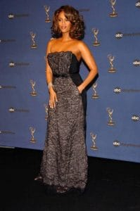 Tyra Banks in the press room at The 33rd Annual Daytime Emmy Awards