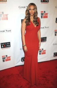 Tyra Banks at 5th Annual Keep A Child Alive Black Ball Benefit