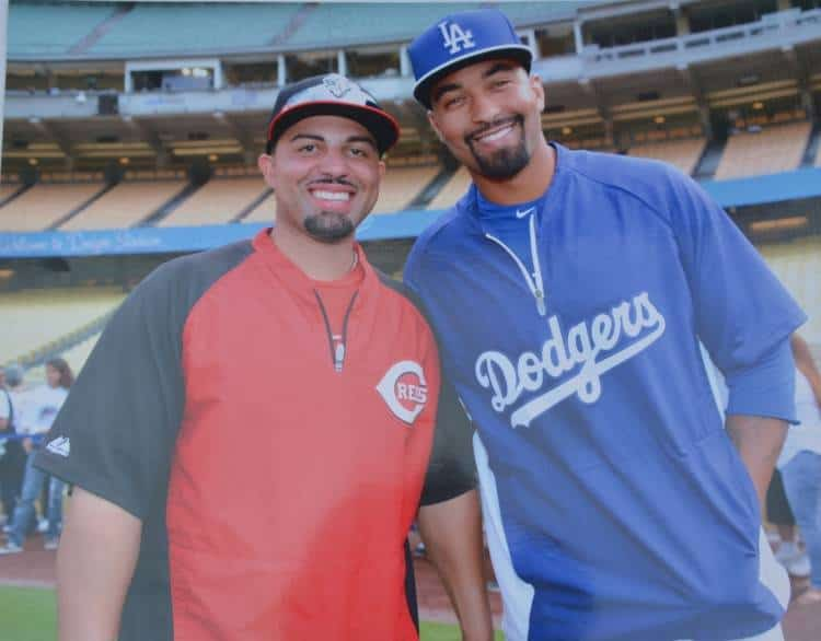 "Xavier Paul and Matthew Ryan ""Matt"" Kemp, baseball outfielder for the Atlanta Braves"