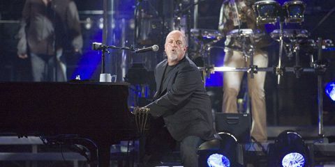 Singer Billy Joel performs at Shea Stadium on July 16, 2008 in Flushing, New York.