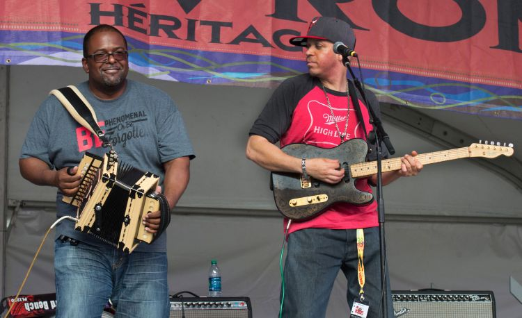Sean Ardoin and Andre Thierry during Creole United Festival. Photo: David Simpson/cajunzydecophotos