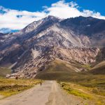 Andes mountains and Valle Hermoso