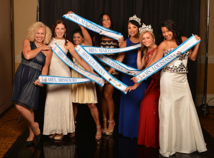 MELISSA ANDERSON AS MRS LOUISIANA (3rd from right) at The USA Ambassador Pageant Nationals 2017