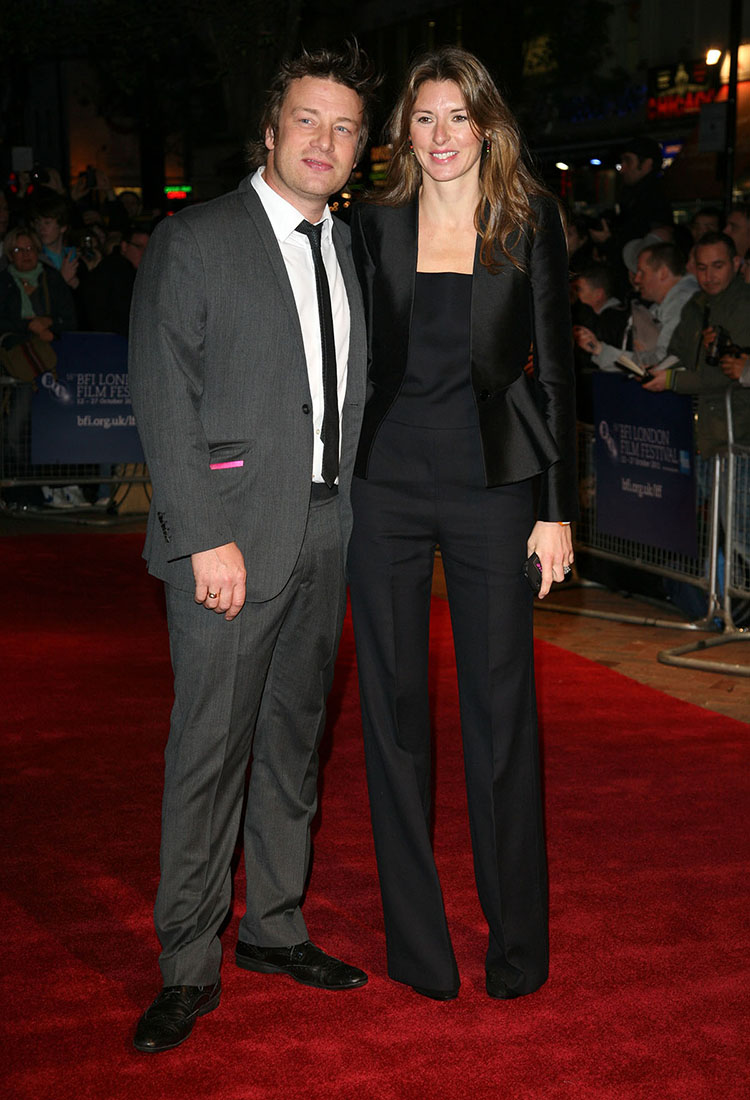 Jools and Jamie Oliver arriving at the film premiere of 'Wild Bill' at The Vue West End, London. Photo: Alexandra Glen