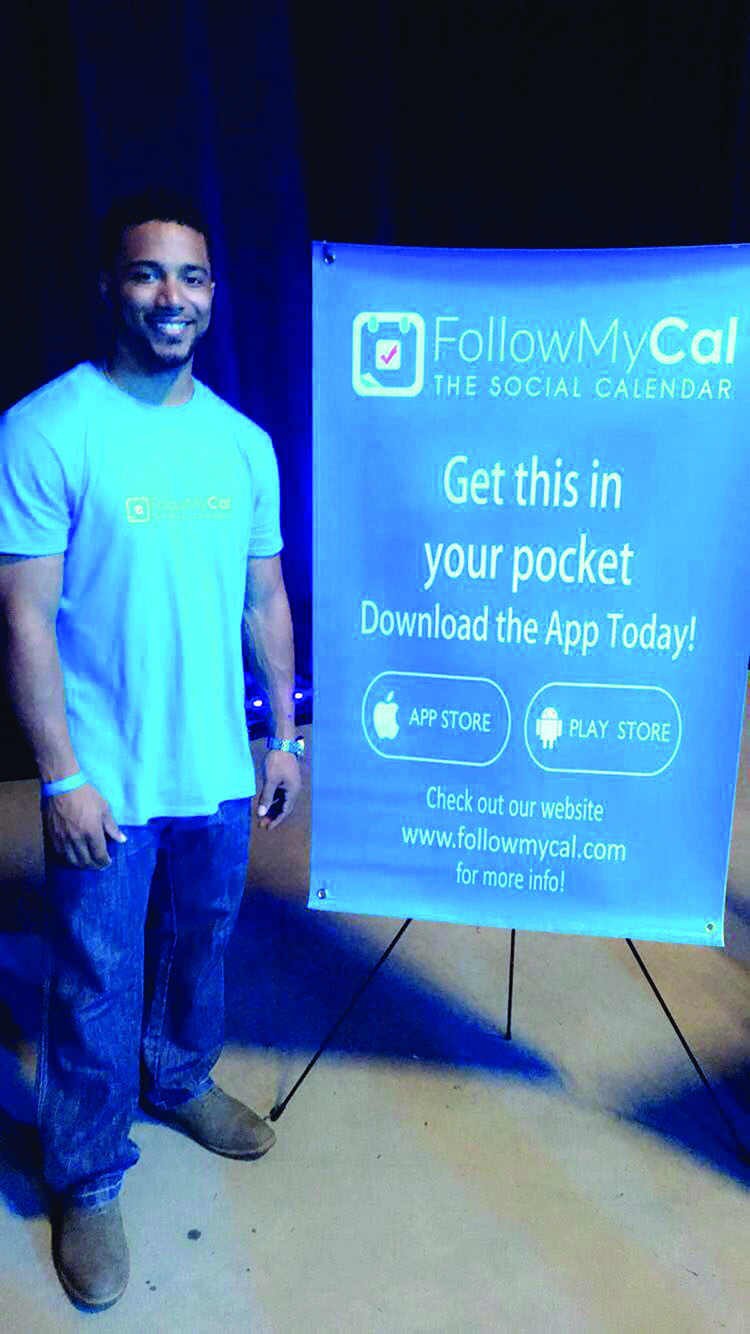 Richard presenting the FollowMyCal app