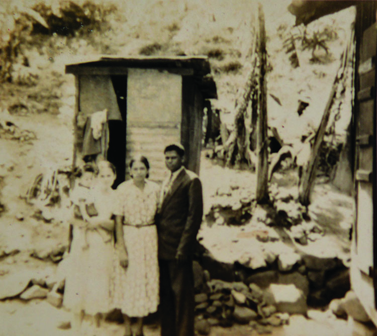 Jean (right) on holiday in Seychelles with his mother and sister Joyce