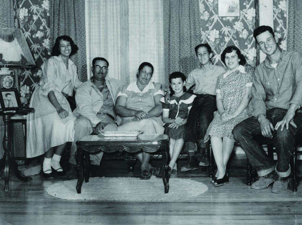 (Left to right) Andrew Vallot, Monte Vallot, Alvin Vallot, Ricardo Vallot, William Vallot Sr. (front), Donny (William Jr.) Vallot and Jerome Auzenne