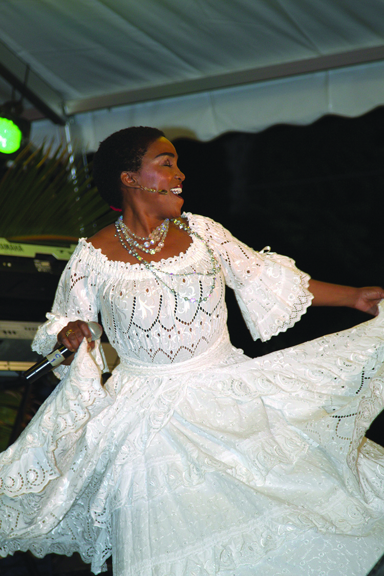 Emeline Michel performing during Festival Kreol, Seychelles, 2013