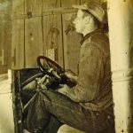 young William, Sr. on a tractor (probably 15 yrs old)