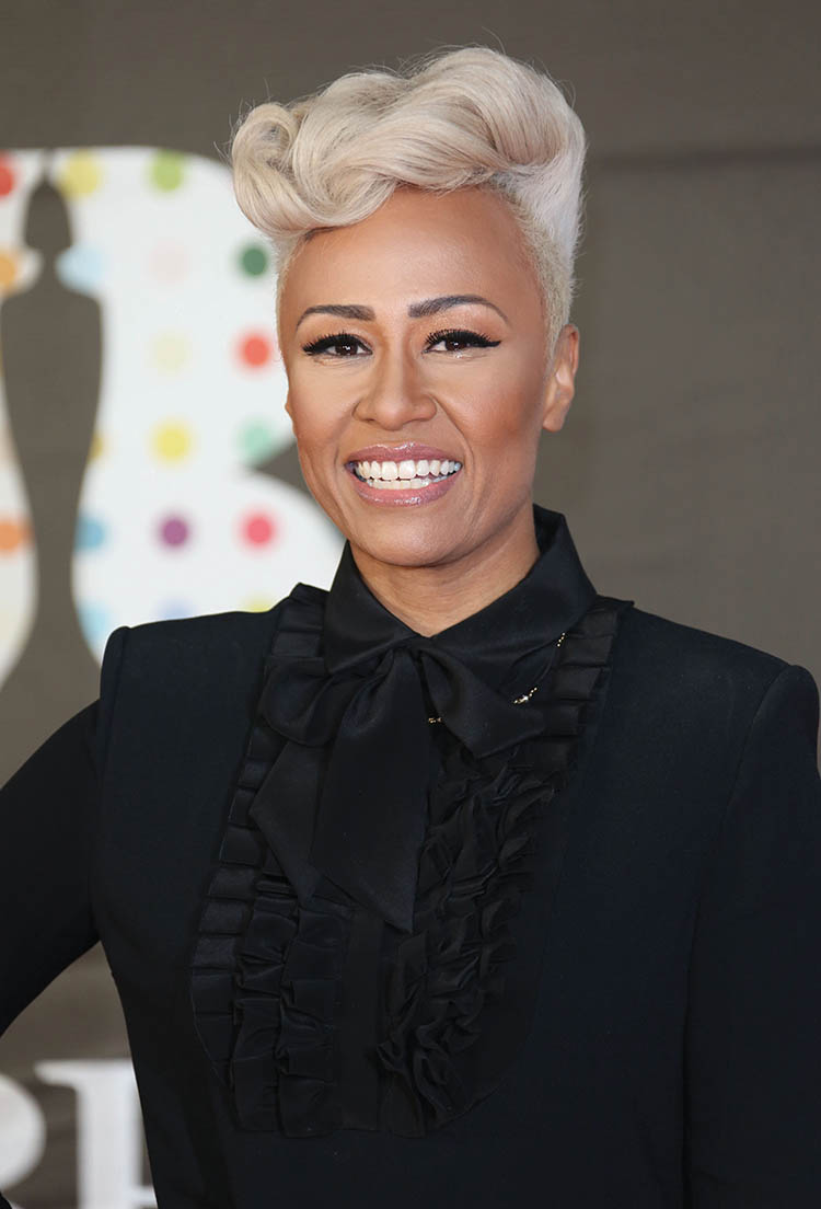 Emeli Sande arrives for the Brit Awards 2013
