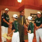Recognition of the Youth Baseball team