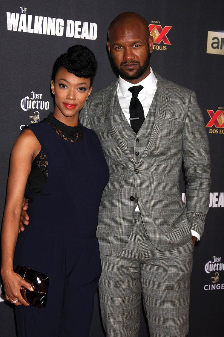 "Sonequa Martin-Green, Kenric Green at the ""The Walking Dead"" Season 5 Premiere"
