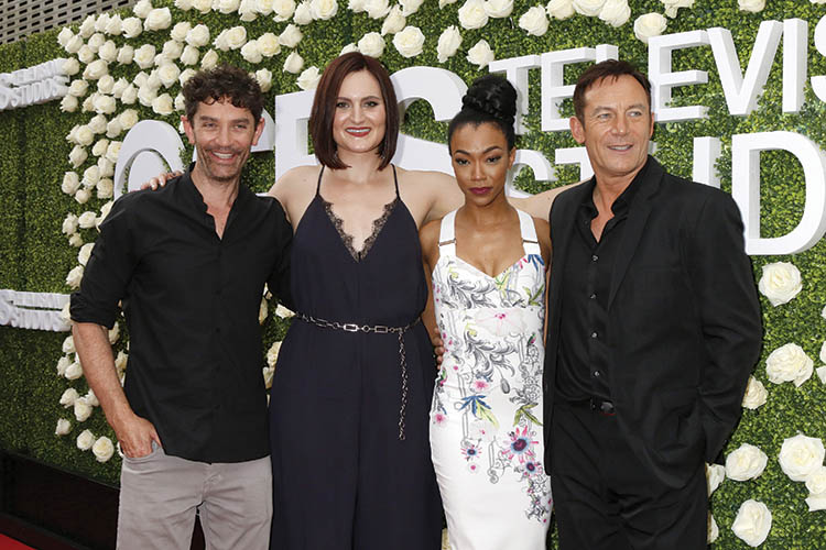 James Frain, Mary Chieffo, Sonequa Martin-Green, Jason Isaacs at the CBS TV Studios Summer Soiree TCA Party 2017 at the CBS Studio Center