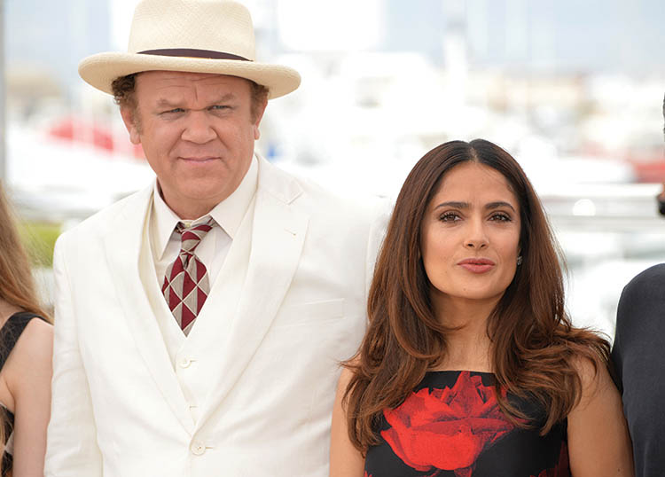 "Salma Hayek & John C. Reilly at the photocall for their movie ""Tale of Tales"""