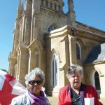 Constance's daughter Amoy with cousin, Sonya outside church in South Carolin