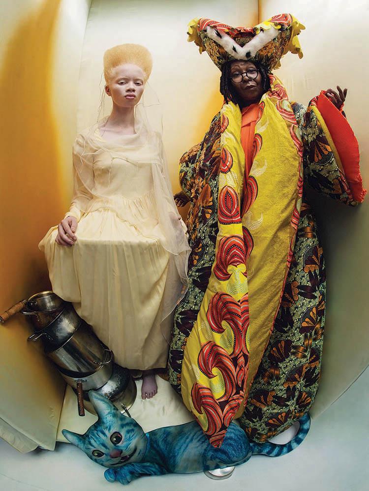 Thando and Whoopi Goldberg as the Princess of Hearts and the Royal Duchess.