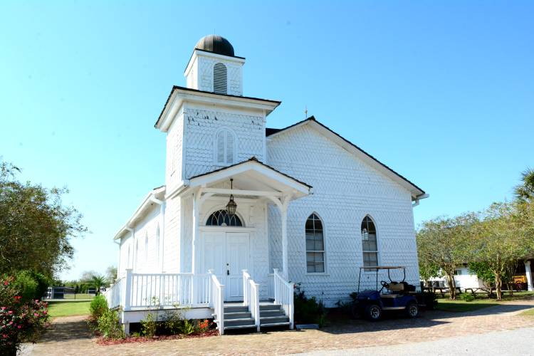 The Antioch Baptist Church at the Whitney Plantation