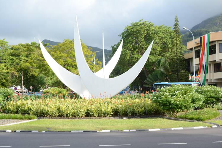 The Bicentennial Monument, Victoria, Mahé, Seychelles