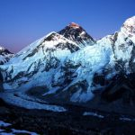 10. Nightly view of Everest and Nuptse from Kala Patthar