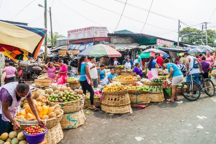 View of Mercado la Terminal market in Leon, Nicaragua by Matyas Rehak