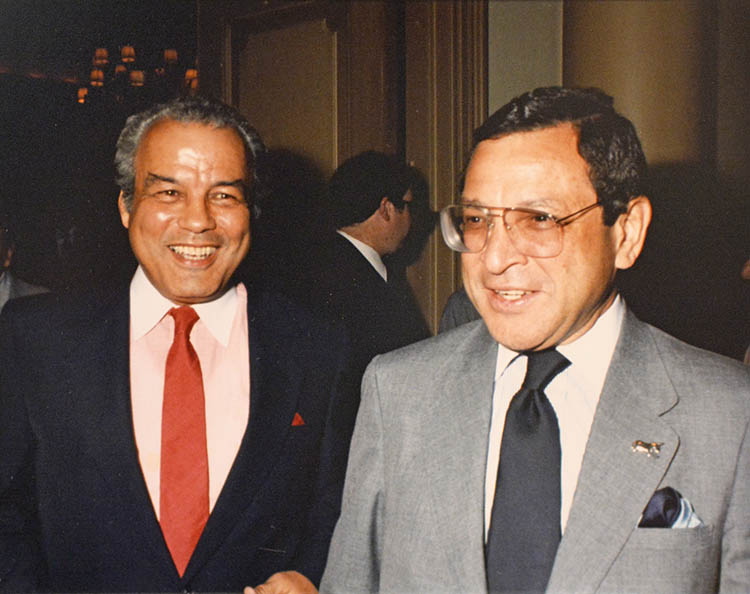 Mayor of New Orleans, Dutch Morial (right).