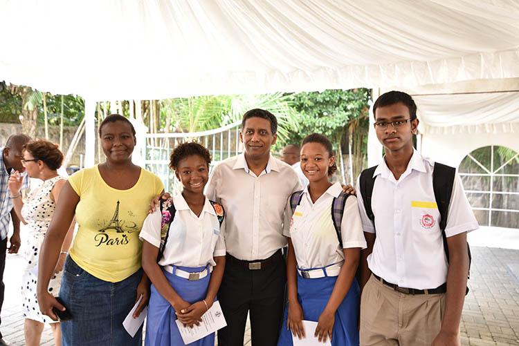 Seychellois President, Danny Faure12
